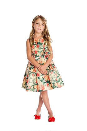 Vestido de Fiesta Estampado de Flores Sweet Kids