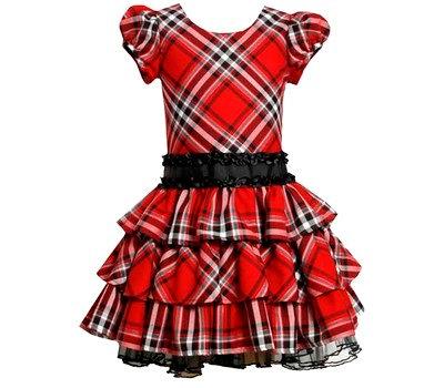 Vestido Cuadros Rojos Bonnie Jean