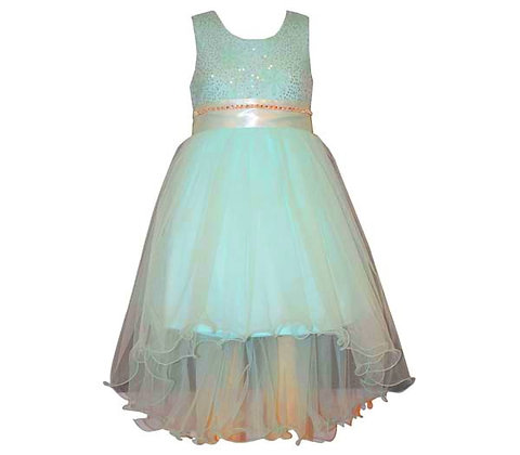 Vestido de Fiesta Azul Aqua Bonnie Jean