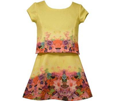 Conjunto de Falda Estampado Amarillo Bonnie Jean