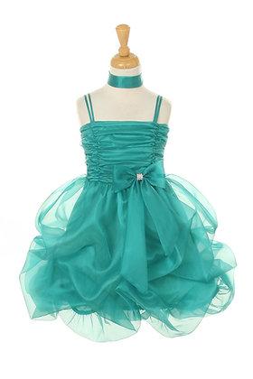 Vestido de Fiesta en Organza Aqua Princess Diaries