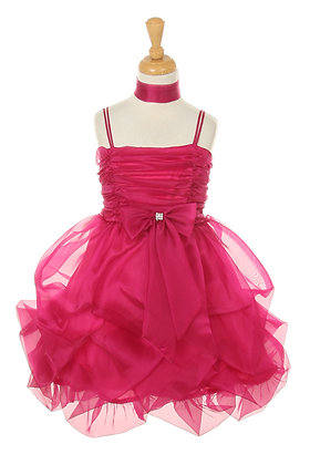 Vestido de Fiesta en Organza Fucsia Princess Diaries