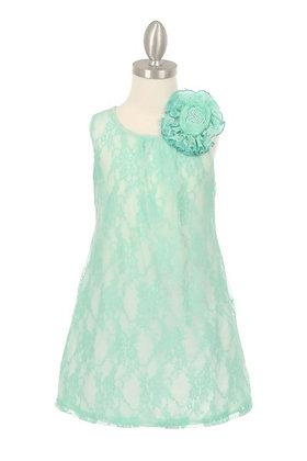 Vestido de Encaje Azul Aqua