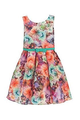 Vestido de Fiesta Estampado de Flores Cinderella Couture