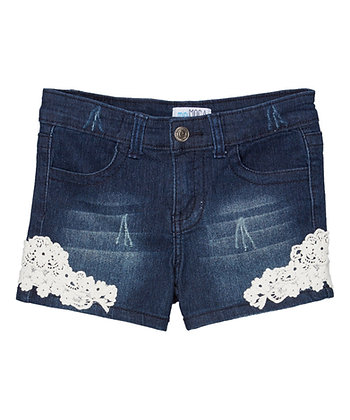 Pantalón Corto de Jean con Encaje