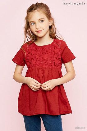 Blusa para niñas Roja Hayden Girls
