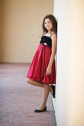 Vestido de Fiesta Rojo/Negro Kids Dream