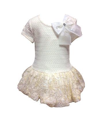 Vestido de Fiesta Crema/Dorado Bonnie Jean