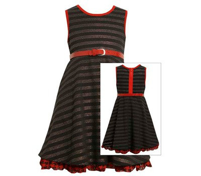Vestido Negro con Rojo Bonnie Jean