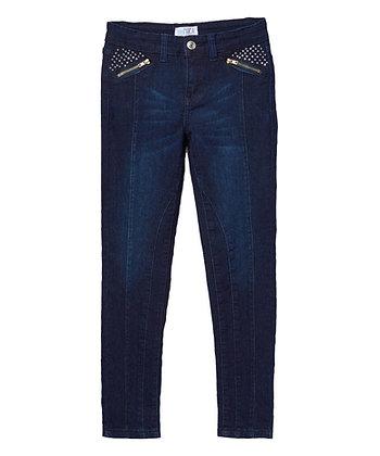 Pantalón Jean con Aplicaciones de Brillantes