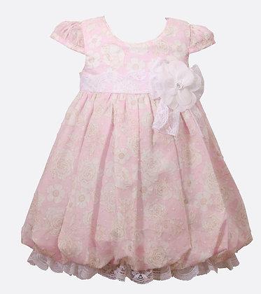 Vestido Estampado de Flores Rosado Bonnie Jean