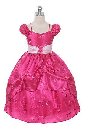 Vestido de Fiesta Princesa Rosado Fucsia