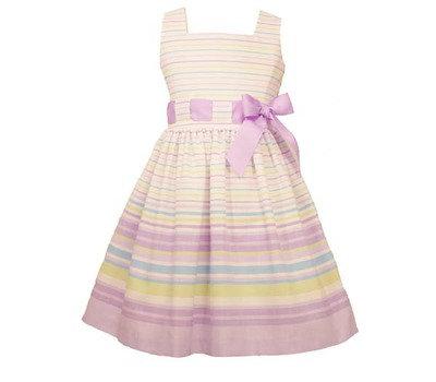 Vestido de Rayas Morado Lila