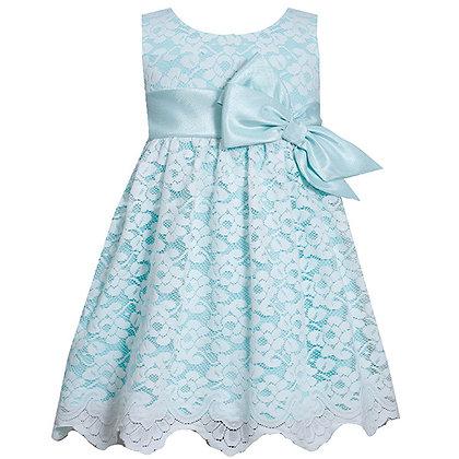 Vestido Aqua de Encajes Bonnie Jean