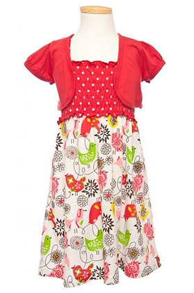 Vestido Estampado Rojo Littoe Potatoes