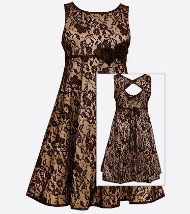 Vestido de Encaje Negro Bonnie Jean