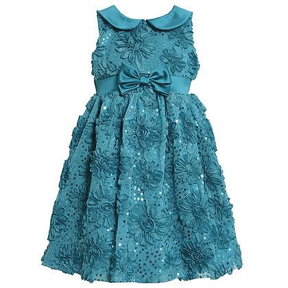 Vestido de Fiesta Azul Turquesa Bonnie Jean