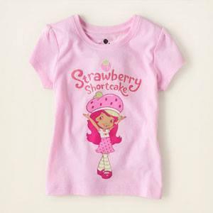 Camiseta Rosada de Strawberry Shortcake