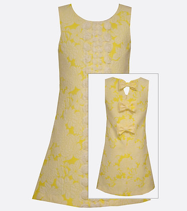 Vestido de Lazos Amarillo Bonnie Jean