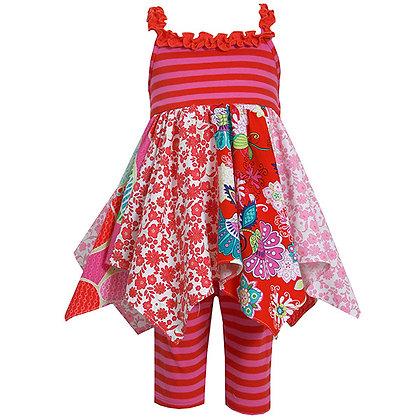Conjunto de Leggings Estampado Rojo Bonnie Jean