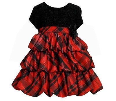 Vestido de Fiesta Rojo/Negro Bonnie Jean