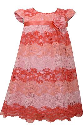 Vestido de Encaje Coral Bonnie Jean