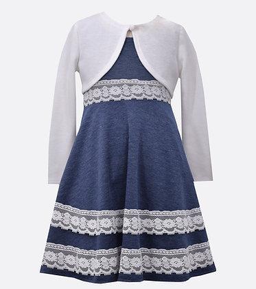 Vestido Azul Marino con Encaje Bonnie Jean