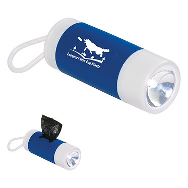 dog bag dispenser w/flashlight