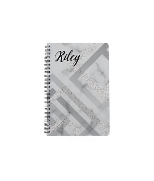 Glossy plastic cover notebook
