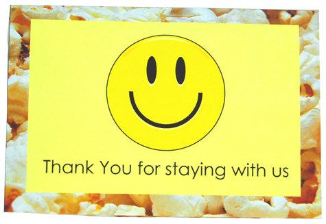 smile popcorn wrapper
