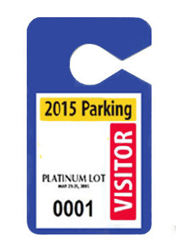 parking permit hang tag-full color