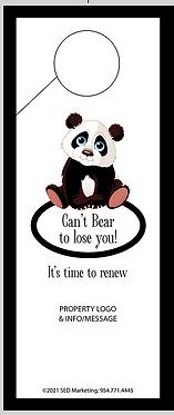 'Bear to lose you' door hanger