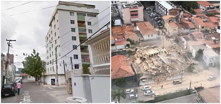 Prédio residencial de sete andares cai em Fortaleza