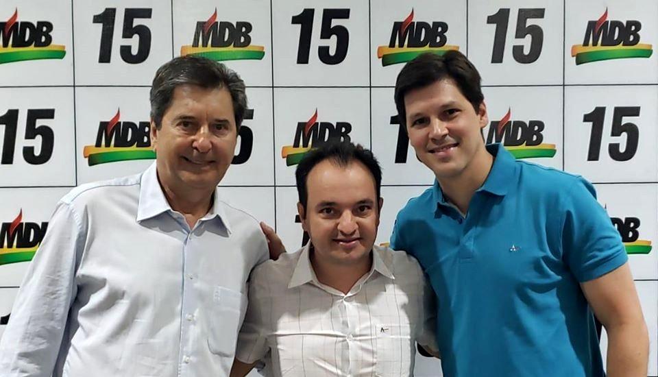 Pábio Mossoró oficializa sua filiação no MDB e deixa o PSDB de Lêda Borges definitivamente