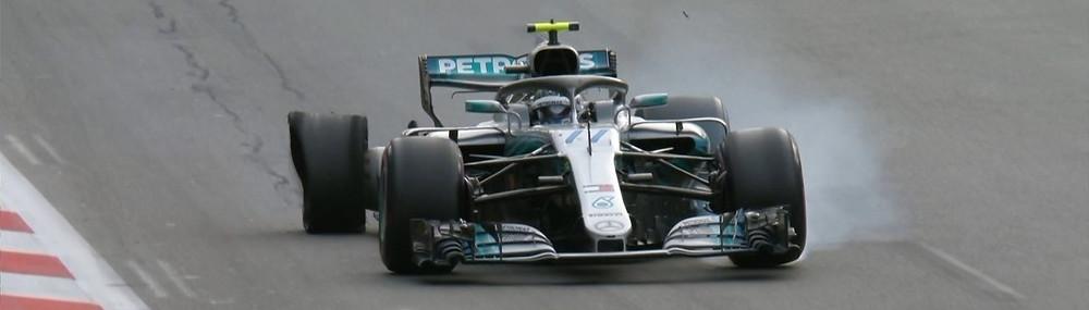 Pneu furado de Botas dá vitória a Hamilton no Azerbaijão