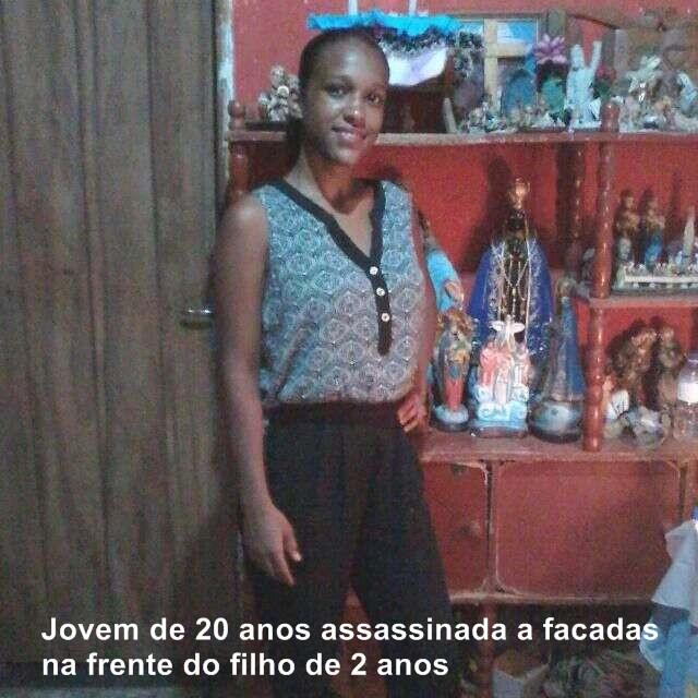 Jovem de 20 anos assassinada em Cidade Ocidental na frente do filho de 2 anos
