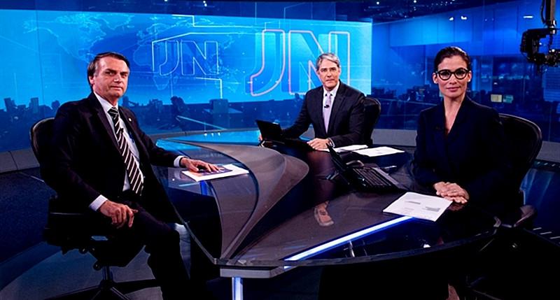 Ataques de Bolsonaro ao JN fazem a audiência do telejornal disparar