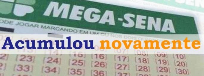 Mega-Sena acumula e pode pagar R$ 27,5 Milhões na quarta-feira