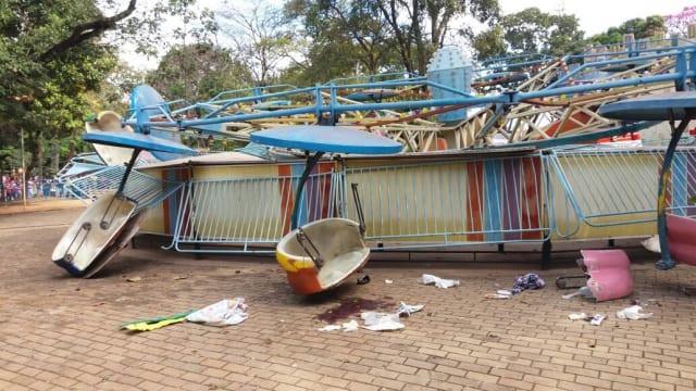 Acidente em parque de diversões municipal de Goiânia deixa 13 feridos