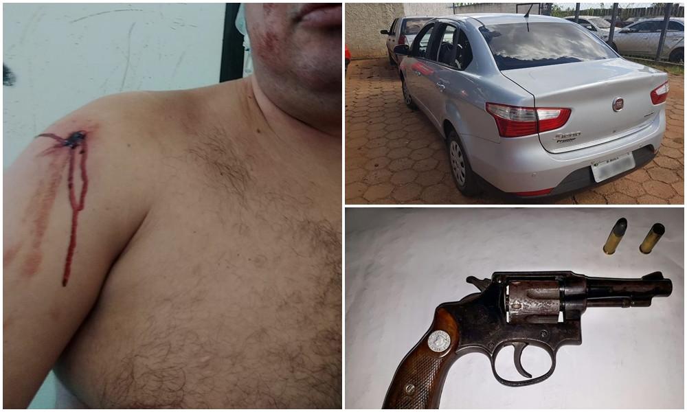 Tentativa de Roubo na Cidade Jardins termina com vítima baleada e bandido preso