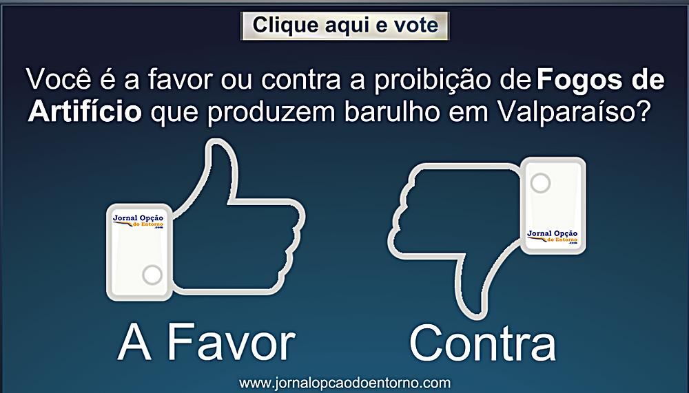 Câmara Municipal de Valparaíso vota projeto que proíbe uso de fogos de artifício