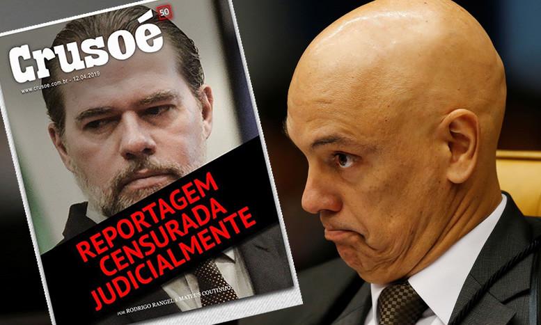 Para proteger o presidente do STF, Dias Toffoli, Alexandre de Moraes manda censurar imprensa