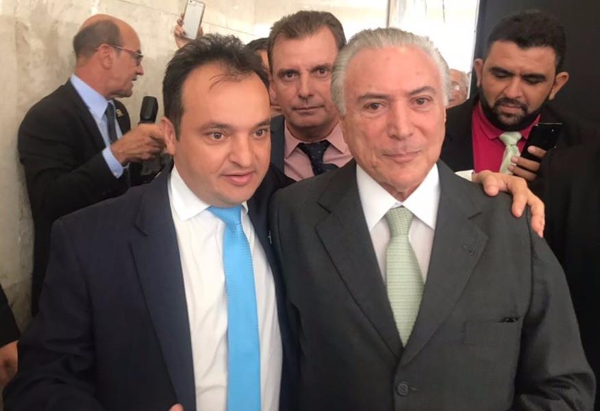 Na busca de recursos, prefeito Pábio Mossoró participa de audiência com o presidente Temer
