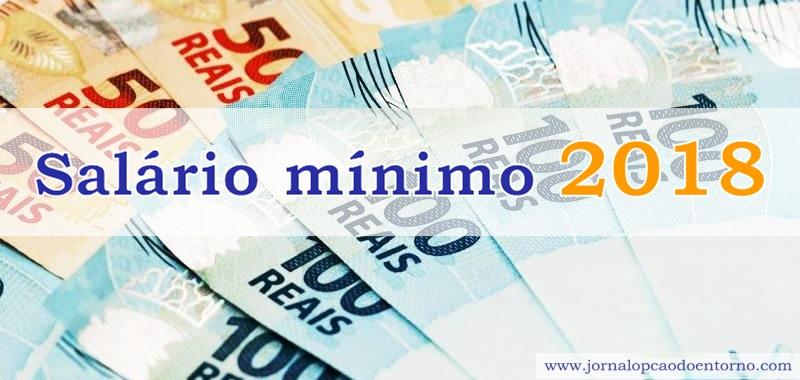 Previsão do Salário mínimo para 2018 baixa novamente