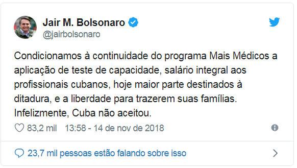Cuba resolve levar seus médicos embora e vagas devem ser preenchidas por brasileiros