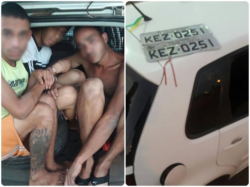 Ladrões são presos em flagrante no Parque São Bernardo, Valparaíso de Goiás