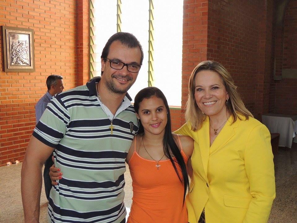 Com esposa e Deputada Leda