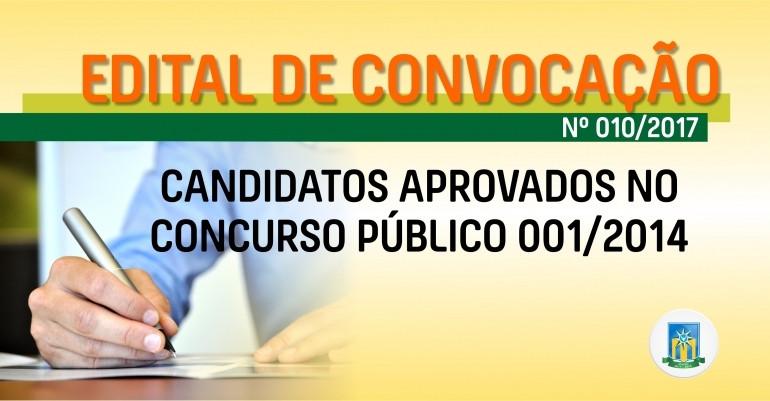 Prefeitura de Valparaíso de Goiás torna público  10º Edital de Convocação dos aprovados no Concurso Público 001/2014