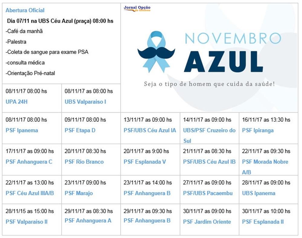 Valparaíso – Governo Municipal dá início à campanha NOVEMBRO AZUL