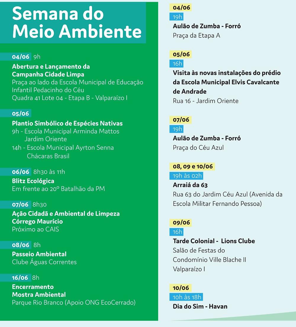 Valparaíso de Goiás completa 23 anos com uma extensa programação comemorativa